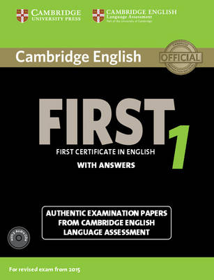 Cambridge English First 1 for Revised Exam from 2015 Student's Book Pack (with Answers and Audio CDs (2))