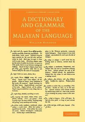 Dictionary Grammar of Malayan Lang