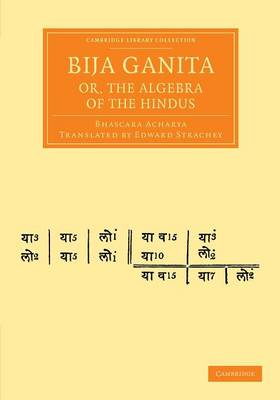 Bija Ganita or Algebra of Hindus