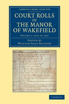 Court Rolls of Manor Wakefield v1