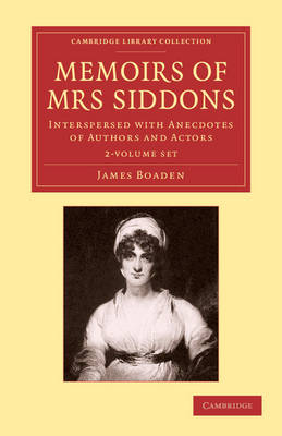 Memoirs of Mrs Siddons 2 vol set