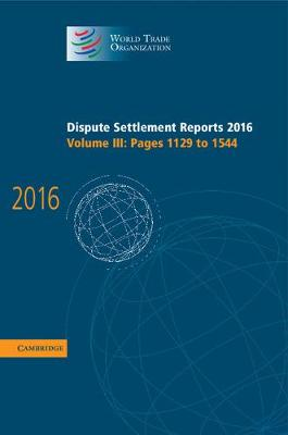 Dispute Settlement Reports 2016 V3
