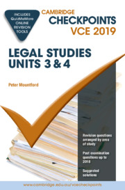 Cambridge Checkpoints VCE Legal Studies Units 3 and 4 2019 and QuizMeMore