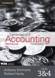 Cambridge VCE Accounting Units 3 and 4 Workbook
