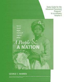 AP STUDY GDE A PEOPLE AND A NATION VOL II
