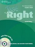 Just Right - Pre Intermediate Teacher Book with Class Audio CD - CEF A2 / B1 2nd ed