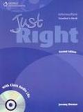 Just Right - Intermediate Teacher Book with Class Audio CD -CEF B1 2nd ed