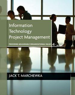Information Technology Project Management 4E