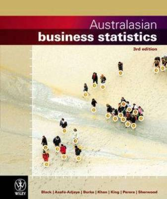 Australasian Business Statistics 3E + Wileyplus/Istudy Version 1 Registration Card