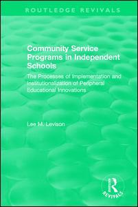 Community Service Programs in Independent Schools