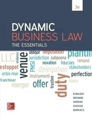 eBook Online Access for Dynamic Business Law: The Essentials