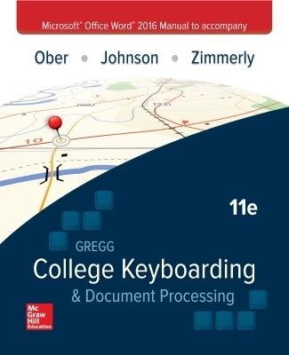 Microsoft Office Word 2016 Manual for Gregg College Keyboarding & Document Processing (GDP)
