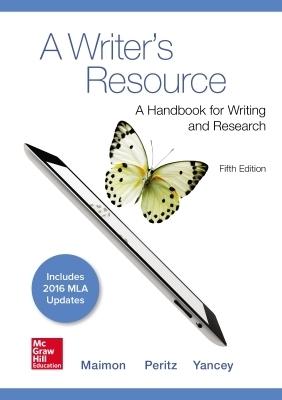A Writer's Resource 5e MLA 2016 UPDATE