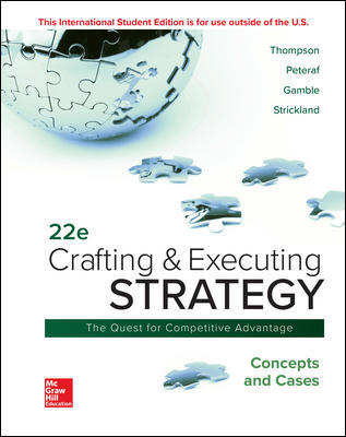 ISE Crafting & Executing Strategy: Concepts and Cases