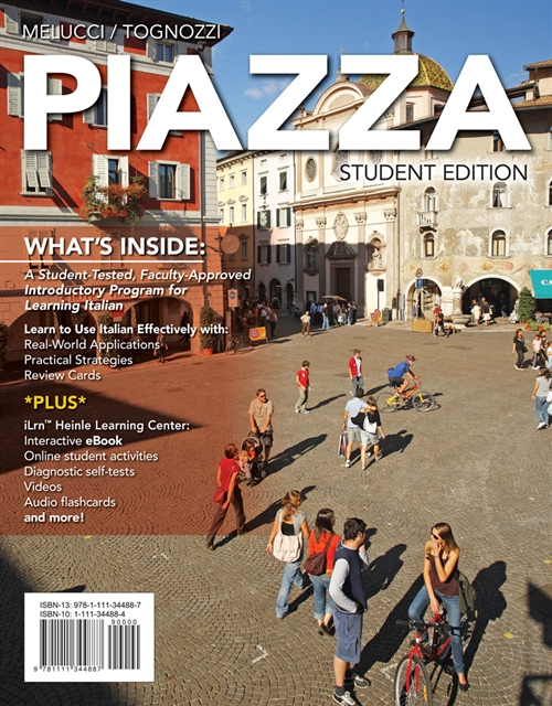 Student Activities Manual with iLrn Printed Access Card for  Melucci/Tognozzi's Piazza