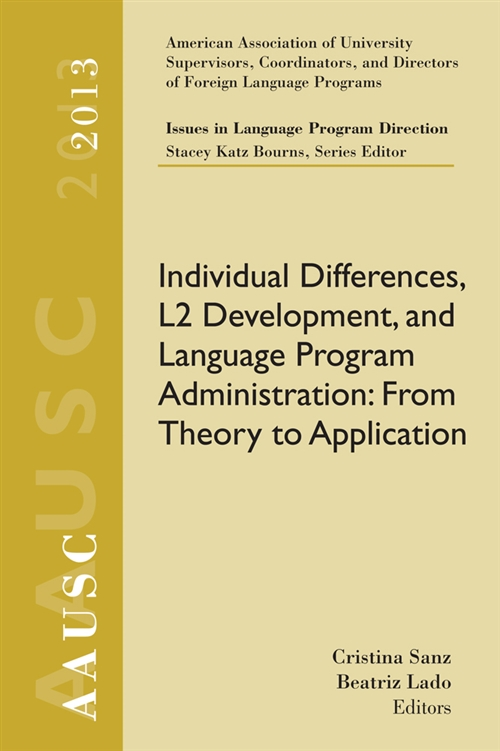 AAUSC 2013 Volume ' Issues in Language Program Direction