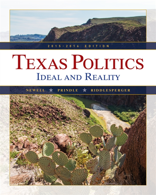 Texas Politics 2015-2016 (with MindTap Political Science, 1 term (6  months) Printed Access Card)