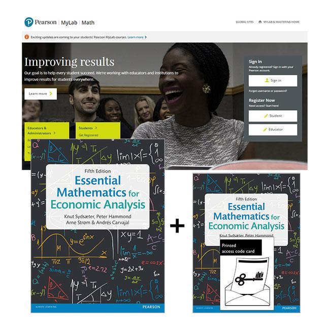 Essential Mathematics for Economic Analysis plus MyMathLab