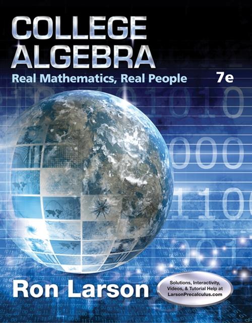 College Algebra : Real Mathematics, Real People