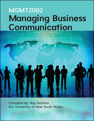 MGMT2002 Managing Business Communication 3e (Customised)