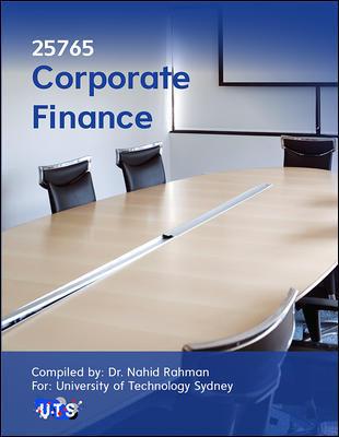 25765 Corporate Finance 6e (Customised)