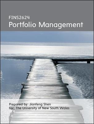 FINS2624 Portfolio Management Custom Publication 3E