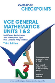 Cambridge Checkpoints VCE General Mathematics Units 1 and 2