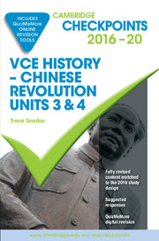Cambridge Checkpoints VCE History Chinese Revolution 2016–20 and Quiz Me More
