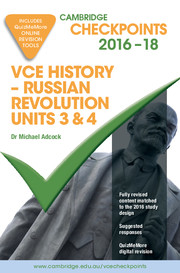Cambridge Checkpoints VCE History - Russian Revolution 2016–20 and Quiz Me More