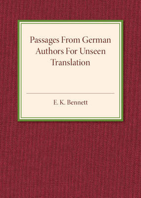 Passages from German Authors for Unseen Translation