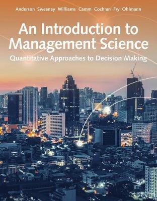 Intro Management Science Quantitative Approach