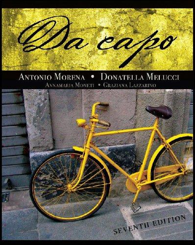 Student Activities Manual for Moneti/Lazzarino's Da capo
