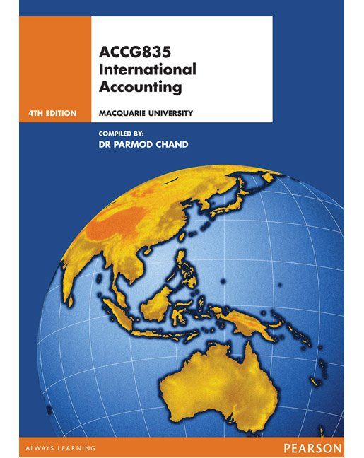 ACCG835 International Accounting (Custom Pub) 4E