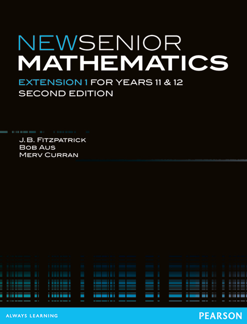 New Senior Mathematics Extension 1
