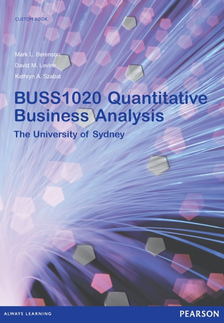 Quantitative Business Analysis BUSS1020 2nd Edition