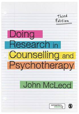 Doing Research in Counselling and Psychotherapy 3ed