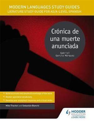 Modern Language Study Guides: Cr�nica de una muerte anunciada