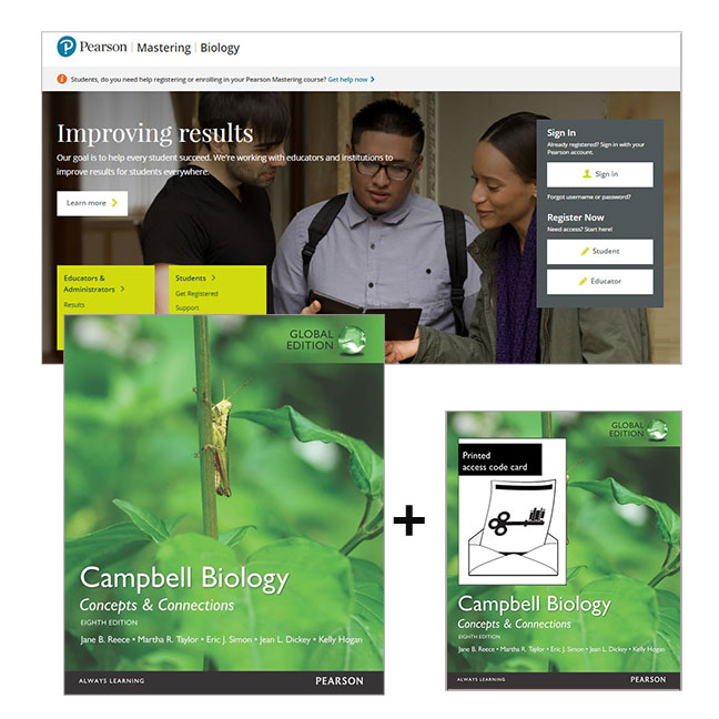 Value Pack Campbell Biology: Concepts and Connections Global Edition + Mastering Biology with eText