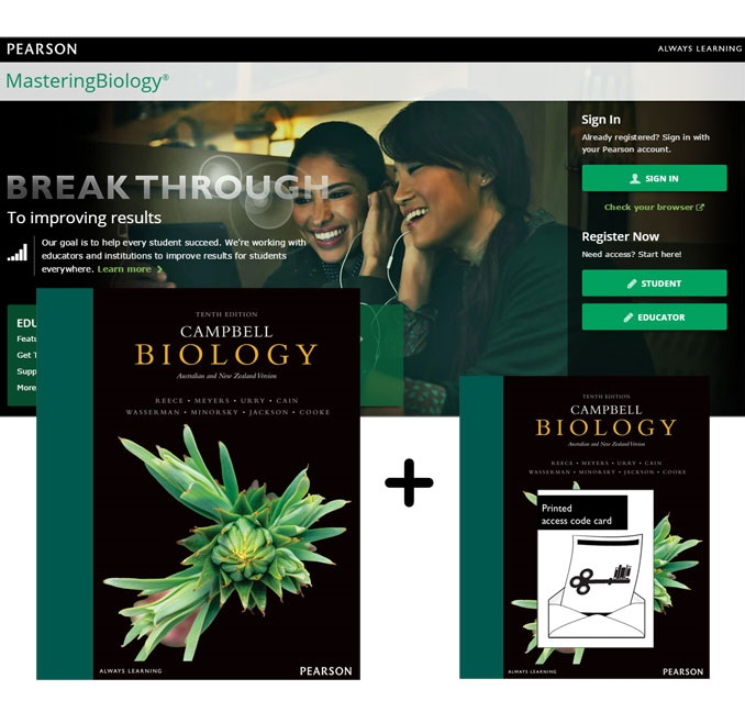Value Pack Campbell Biology Australian and New Zealand Edition + Mastering Biology with eText