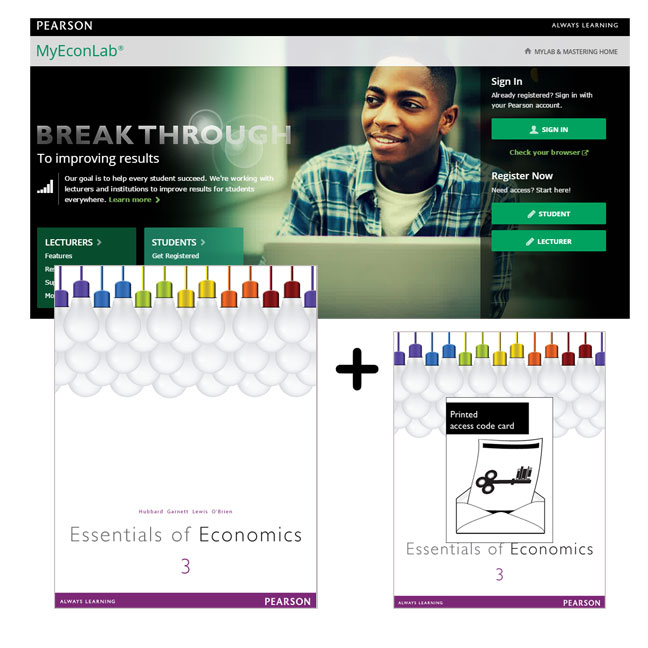 Essentials of Economics + MyEconLab with eText
