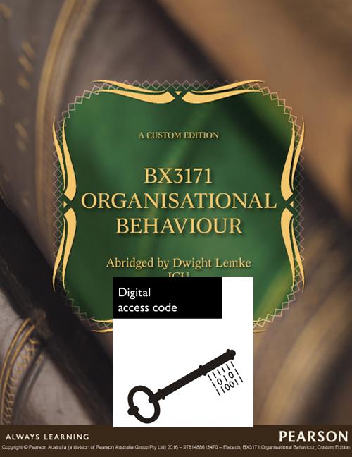 Organizational Behaviour BX3171 (Custom Edition)