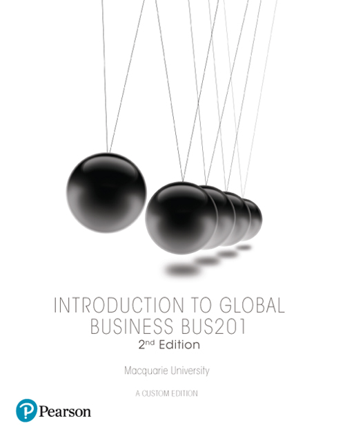Introduction to Global Business BUS201 (Custom Edition)