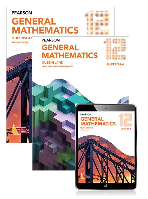 Pearson General Mathematics Queensland 12 Exam Preparation Workbook and Student Book with eBook