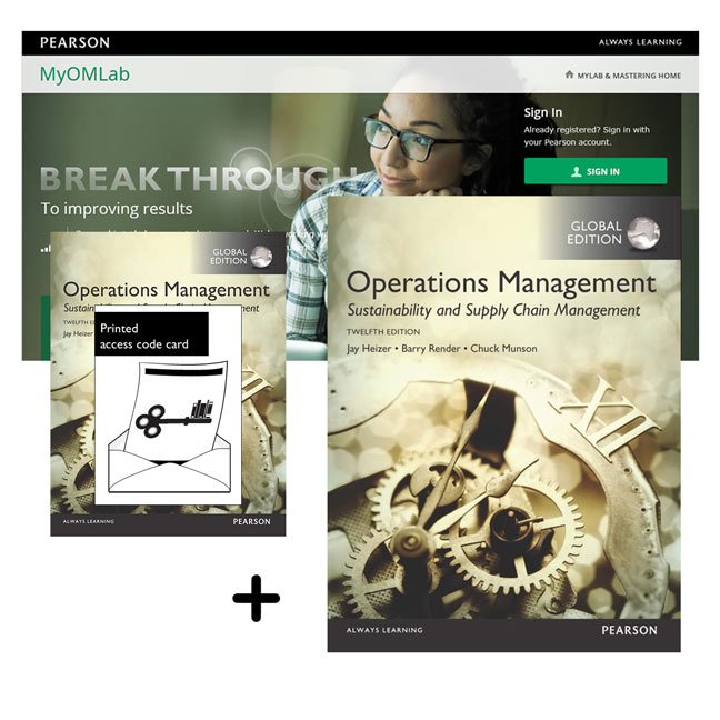 Value Pack Operations Management: Sustainability & Supply Chain Management Global Edition + MyLab Operations Management with eText