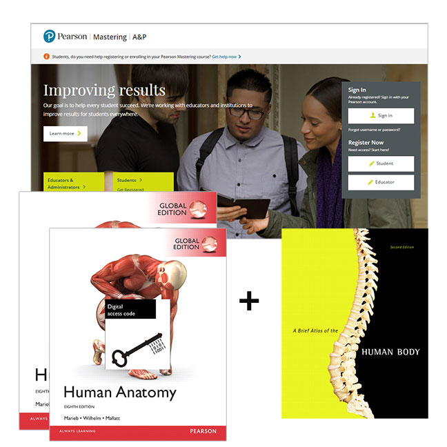 Human Anatomy, Global Edition + A Brief Atlas of the Human Body + Modified Mastering A&P with eText