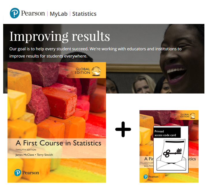 A First Course in Statistics, Global Edition + MyLab Statistics with eText