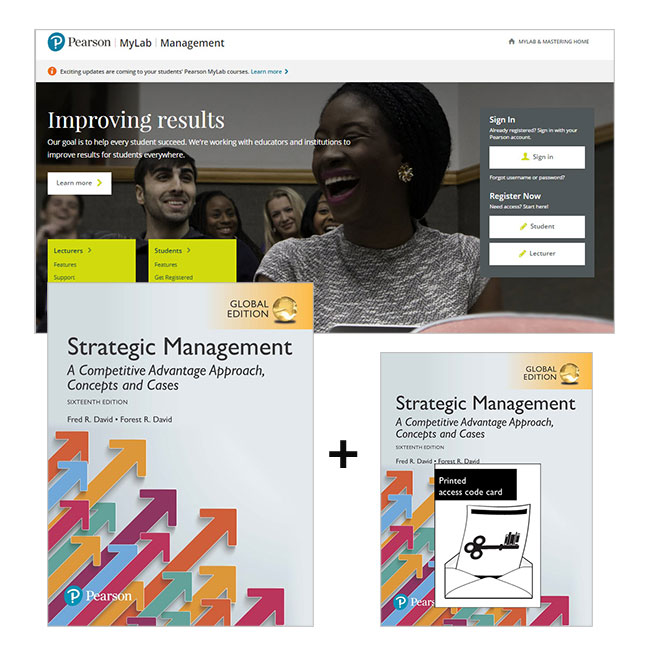 Value Pack Strategic Management: A Competitive Advantage Approach, Concepts & Cases Global Edition + MyLab Management with eText