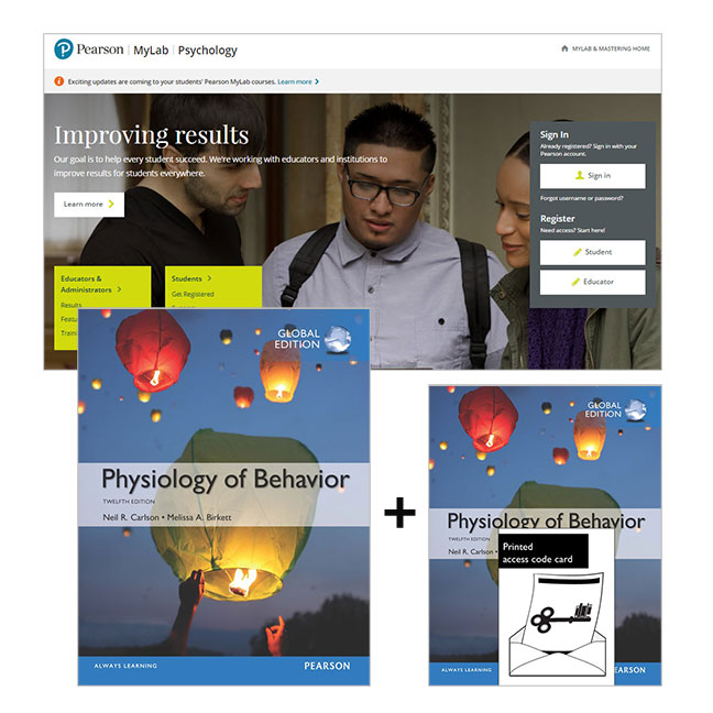 Value Pack Physiology of Behavior, Global Edition with MyLab Psychology with eText