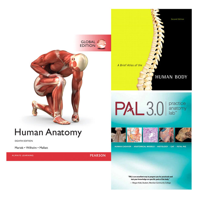 Human Anatomy, Global Edition + Practice Anatomy Lab 3.0 + A Brief Atlas of the Human Body