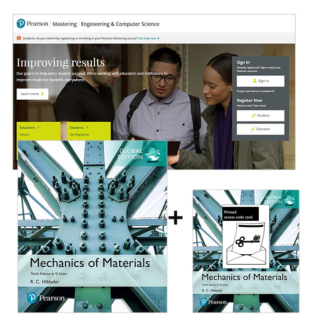Mechanics of Materials in SI Units, Global Edition + Mastering Engineering with eText
